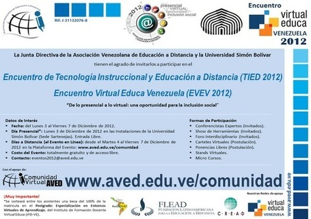 Invitación AVED - USB | Educación a Distancia (EaD) | Scoop.it