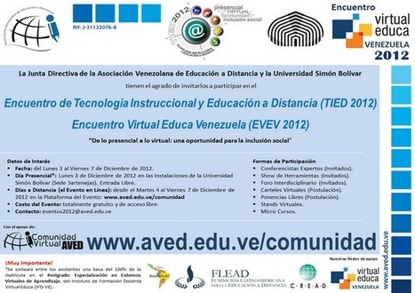 Invitación AVED - USB | Educación a Distancia y TIC | Scoop.it