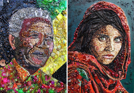 Artist Re-Creates Iconic Portraits With Thousands of Found Objects | Art & Culture | Scoop.it