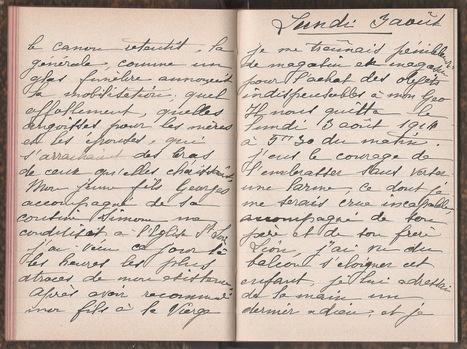 Marine et ses ancêtres... Blog de Généalogie: #Généathème : Le document du mois : Le journal de Léontine entre 1879 et 1916 | Auprès de nos Racines - Généalogie | Scoop.it