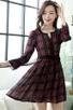Plaid Chiffon A-line Dress - OASAP.com | Oasap street fashion | Scoop.it