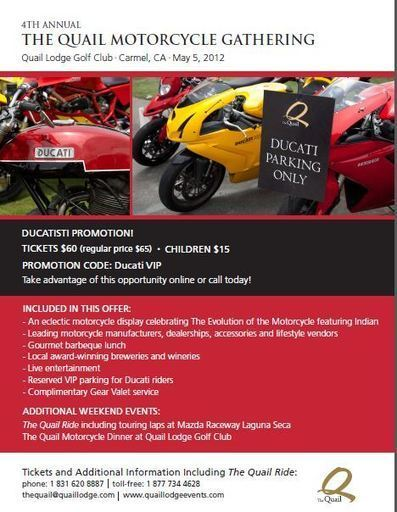 Ducati at The Quail Motorcycle Gathering – Are you going to win the new Superbike class?? | Ducati.net | Ductalk | Scoop.it