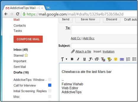 AutoCorrect Typos In GMail When Composing Emails [Chrome] | Time to Learn | Scoop.it