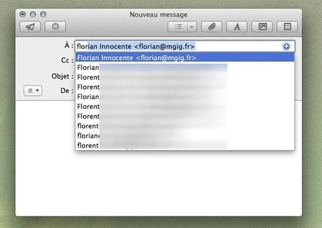 Astuce : faire le ménage dans les destinataires de Mail | Apple, IMac and other Iproducts | Scoop.it