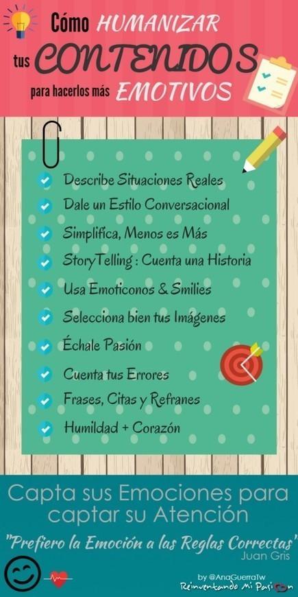 10 Consejos para Humanizar y Despertar Emociones con los Contenidos - ReinventandoMiPasion.com   Seo, Social Media Marketing   Scoop.it
