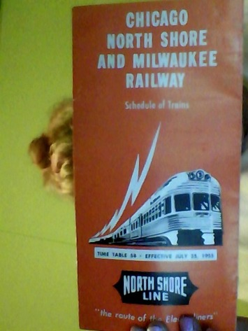 1955 #58 Time table-Chicago north shore and milwaukee railway | Antiques & Vintage Collectibles | Scoop.it