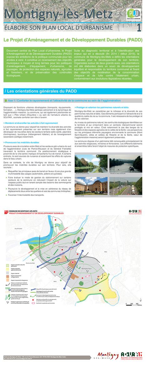 Montigny-lès-Metz expose le diagnostic et le PADD de son projet de PLU   Actualité du centre de documentation de l'AGURAM   Scoop.it