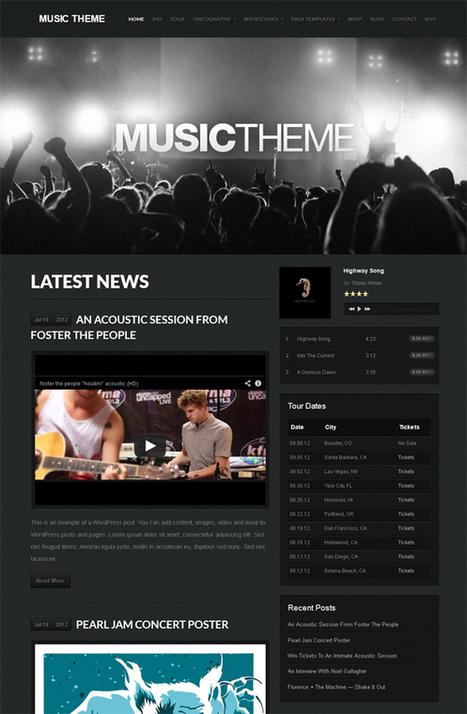 Organic Music, WordPress Music WP Theme   WP Download   Site Ekle   Scoop.it