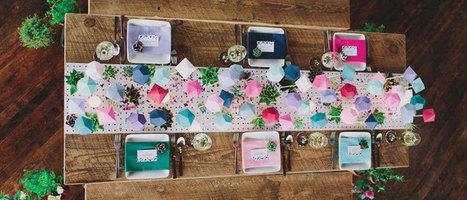 Une déco de table estivale, colorée et géométrique ! - DIY Déco | Décoration de Mariage, Baptême et déco de table | Scoop.it