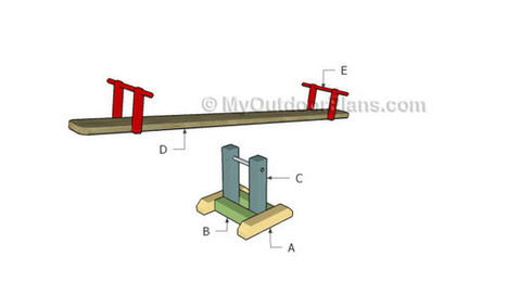 How to build a seesaw | Free Outdoor Plans - DIY Shed, Wooden Playhouse, Bbq, Woodworking Projects | Garden Plans | Scoop.it