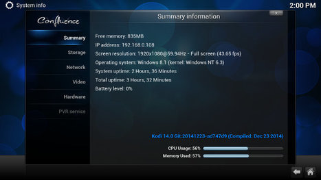 Kodi 14 Video Playback on Intel Atom Z3735F Computers Running Windows 8.1 | Embedded Systems News | Scoop.it