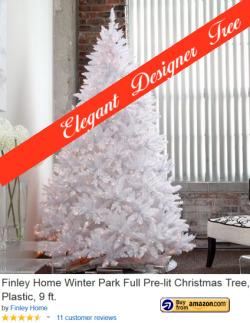 Elegant White Designer Tall Artificial Christmas Tree   Extra Tall Artificial Christmas Tree   Scoop.it