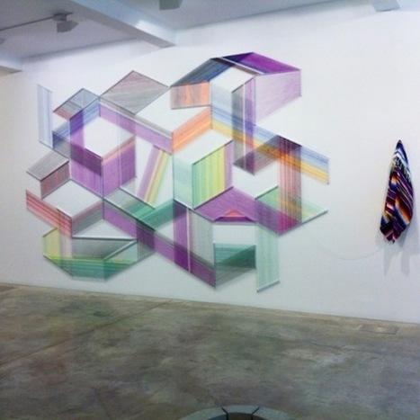Adrian Esparza Transforms Mexican Serape Blankets Into Intricate Geometric Thread Installations | Art & Craft | Scoop.it
