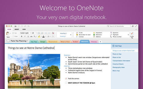 Microsoft's OneNote hits Mac App Store, available free for a limited time | iPad and Apps | Scoop.it