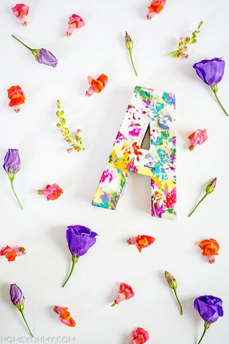 DIY floral monogram - Mod Podge Rocks   Decoupage   Scoop.it