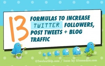 13 Formulas To Increase Twitter Followers, Post Tweets + Traffic | Internet Marketing | Scoop.it