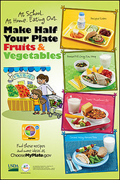 MyPlate for Kids: Make Half your Plate Fruits and Vegetables Poster | Gardening | Scoop.it