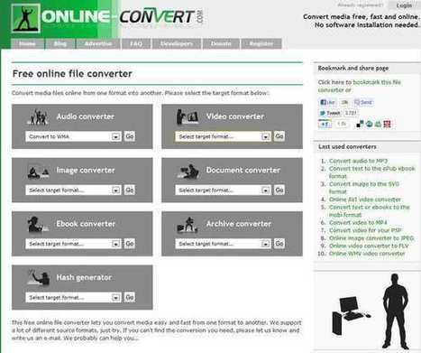 Muy buena herramienta en línea para convertir diferentes formatos de ficheros │@GeeksRoom | Merchele | Scoop.it