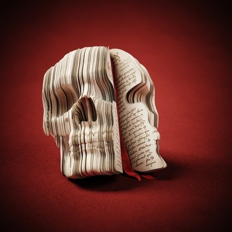 Book sculpture of a skull which doesn't even exist — Lost At E Minor ... | What is a teacher librarian? | Scoop.it