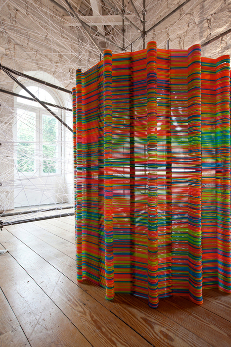 likearchitects: chromatic screen installation | RECYCLED ART, PRODUCTS AND THINGS | Scoop.it