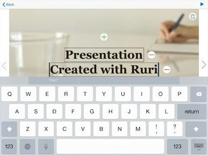 RURI - create presentations on iPad | Libraries, HigherEd on an iPad | Scoop.it
