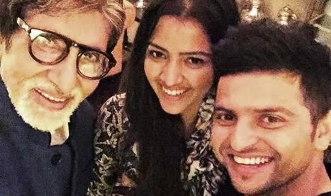Suresh Raina & wife Priyanka Chaudhary click selfie with Amitabh Bachchan! See Pictures   Amitabh bachchan   Scoop.it