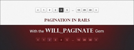 Pagination in Rails With the will_paginate Gem - RailsCarma | Ruby on Rails Application Development | Scoop.it