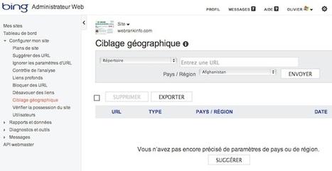 Référencement : configurer le ciblage géographique pour Bing   rédaction web et référencement   Scoop.it