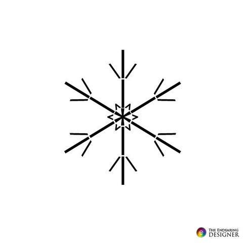 ASCII Art - Winter Snowflake Text Art