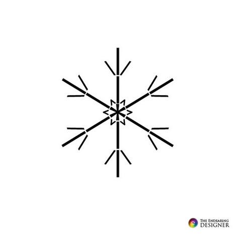 Winter Snowflake Text Art | ASCII Art | Scoop.it