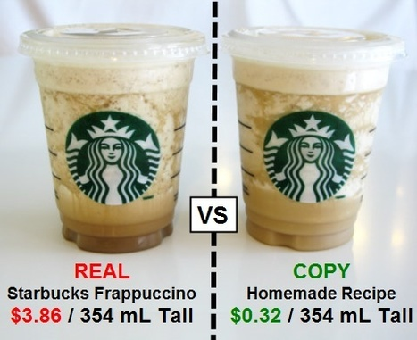 Make a Starbucks Frappuccino for $0.32 | VIM | Scoop.it