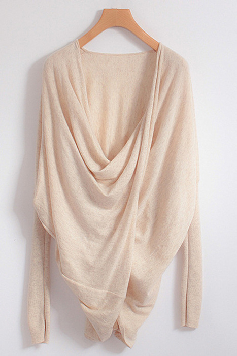 Twist High-low Sweater - OASAP.com | Sweaters and Cardigans | Scoop.it