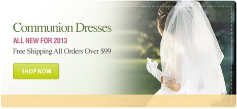 Buy Online First Communion Dresses At Affordable Pric | Website Designing Company in India | Scoop.it