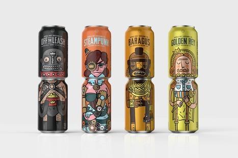 Les cannettes de la marque Noble Rey Brewing Co. : Les deux font la bière ! - Communication (Agro)alimentaire | Communication Agroalimentaire | Scoop.it