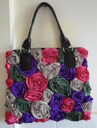 Used Fabric Rose Handbag | Jewelry Making & Beginning Stain Glass | Scoop.it