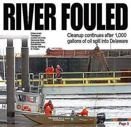 1,000 gallons of oil spill into Delaware River from Monroe Energy Refinery in Trainer | Oil Spill | Scoop.it