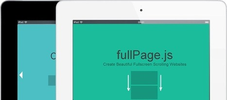 fullPage.js One Page Scroll Site Plugin | Veille Web Design | Scoop.it