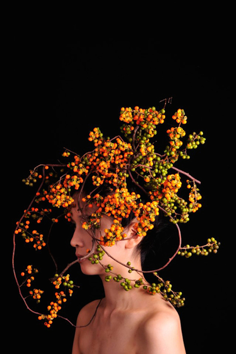 Botanical Headdresses by Takaya   photography and art   Scoop.it