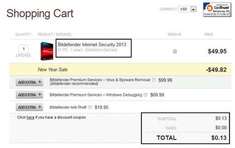 [HOT] Bitdefender Internet Security 2013 | Only $0.13 | 2013-NYS | Free license for you | Bitdefender 2013 | Scoop.it