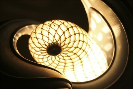 3ders.org - Absolutely stunning cocoon lamp created with multi-material 3D printer | 3D Printing news | [THE COOL STUFF] | Scoop.it