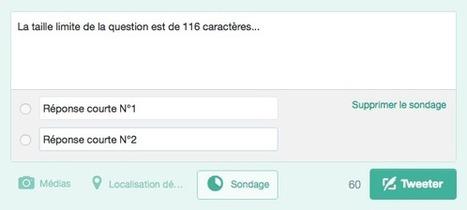 L'utilisation de la fonctionnalité sondage sur Twitter | Social Media | Scoop.it