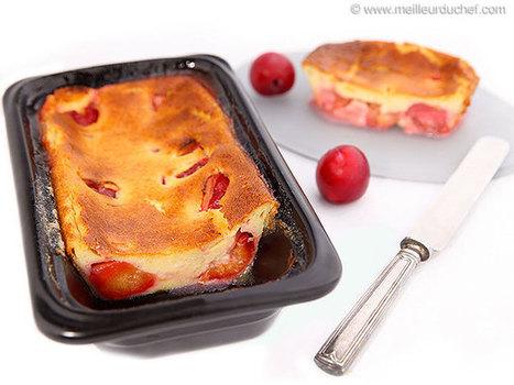 Clafoutis aux prunes   Recettes de cuisine de Meilleur du Chef   Scoop.it