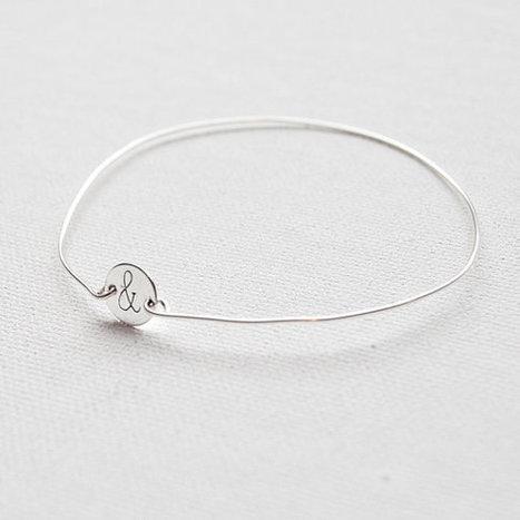 Personalized Dainty Bracelet by Emmalina Jewelry! | Layered Necklaces & Silver Bangle Bracelets | Scoop.it