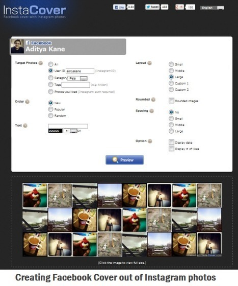 Online Tool to Create Facebook Cover Image with Instagram Photos   Le Top des Applications Web et Logiciels Gratuits   Scoop.it