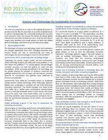 Issues Brief 12 - Science and Technology for Sustainable Development | The business value of technology | Scoop.it