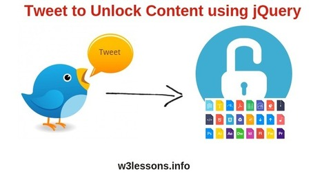 Tweet to Download Files using jQuery & Twitter API | W3lessons | Scoop.it