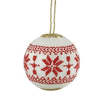 Nordic Alpine Red and White Snowflake Embroidered Christmas Tree Ornament | Home and Garden | Scoop.it