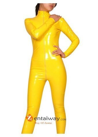 Yellow PVC Catsuit [b040] - $43.00 : zentaiway.com | Sexy PVC Catsuits | Scoop.it