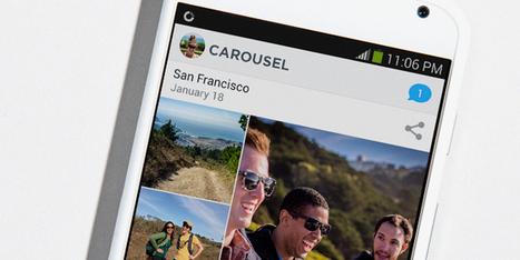 UI détails de la nouvelle appli Carousel de Dropbox | Benchmark Mobile User Interface | Scoop.it