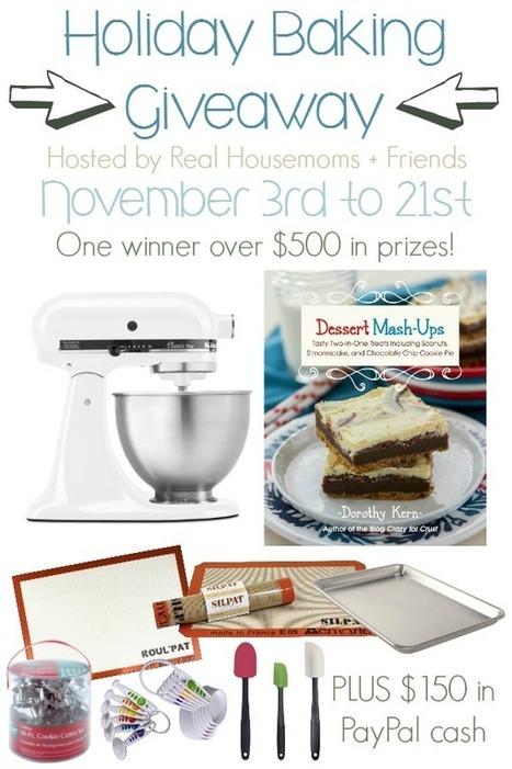 40 plus Holiday Baking Recipes and Giveaway - Real Housemoms | Yummy goodness | Scoop.it